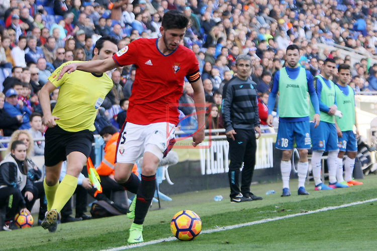 League Santander 2016/2017. Game: 24.<br /> RCD Espanyol vs CA Osasuna: 3-0.<br /> David Garcia.