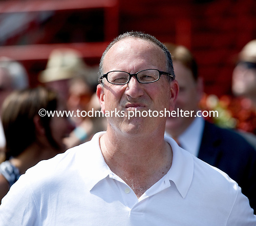 Bruce Levine squints after watching his Bug Juice win on Aug. 4.