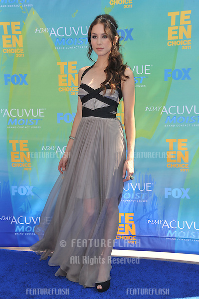 Troian Bellisario at the 2011 Teen Choice Awards at the Gibson Amphitheatre, Universal Studios, Hollywood..August 7, 2011  Los Angeles, CA.Picture: Paul Smith / Featureflash