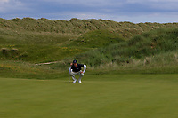 Martin Vorster (RSA) on the 15th green during Round 4 of The East of Ireland Amateur Open Championship in Co. Louth Golf Club, Baltray on Monday 3rd June 2019.<br /> <br /> Picture:  Thos Caffrey / www.golffile.ie<br /> <br /> All photos usage must carry mandatory copyright credit (© Golffile | Thos Caffrey)