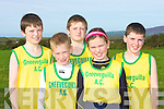 AA1: The Gneevegulla athletic team who took part in the Kerry AAI Uneven Cross Country at Kilmoyley on Sunday. Front l-r: Patrick and Sinead Warren. Back l-r: Conor and Dean Crowley and Shane Crowley........... ............................................................   Copyright Kerry's Eye 2008