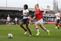 Leonie Maier of Arsenal and Rinsola Babajide of Liverpool during Arsenal Women vs Liverpool Women, Barclays FA Women's Super League Football at Meadow Park on 24th November 2019