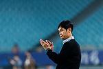 Jiangsu FC Head Coach Choi Yong Soo reacts during the AFC Champions League 2017 Group H match between Jiangsu FC (CHN) vs vs Gamba Osaka (JPN) at the Nanjing Olympics Sports Center on 11 April 2017 in Nanjing, China. Photo by Yu Chun Christopher Wong / Power Sport Images