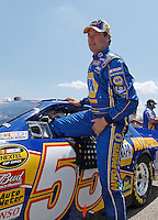 Apr 28, 2007; Talladega, AL, USA; Nascar Nextel Cup Series driver Michael Waltrip (55) during qualifying for the Aarons 499 at Talladega Superspeedway. Mandatory Credit: Mark J. Rebilas