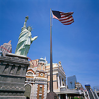 Las Vegas, Nevada, USA - New York-New York Hotel & Casino along The Strip (Las Vegas Boulevard)