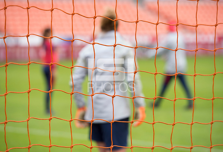 Houston, TX - April 7, 2018: The USWNT trains before their international friendly against Mexico at BBVA Compass Stadium.
