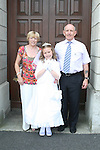 Lea Brady Firzpatrick with Granda Ken and Nana Breda at the St. Brigid's Communion in the Lourdes Church...Photo NEWSFILE/Jenny Matthews.(Photo credit should read Jenny Matthews/NEWSFILE)....This Picture has been sent you under the condtions enclosed by:.Newsfile Ltd..The Studio,.Millmount Abbey,.Drogheda,.Co Meath..Ireland..Tel: +353(0)41-9871240.Fax: +353(0)41-9871260.GSM: +353(0)86-2500958.email: pictures@newsfile.ie.www.newsfile.ie.FTP: 193.120.102.198.