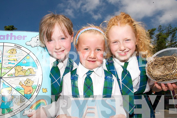 WINNERS: Pupils from Aghatubrid National School in South Kerry who were part of the Schools Science Team that will be presented with their 2007 Discover Primary Schools Science Award for Science Excellence in Cork next week.. L/r. Megan McCrohan, Cara Hazell and Megan Walsh..