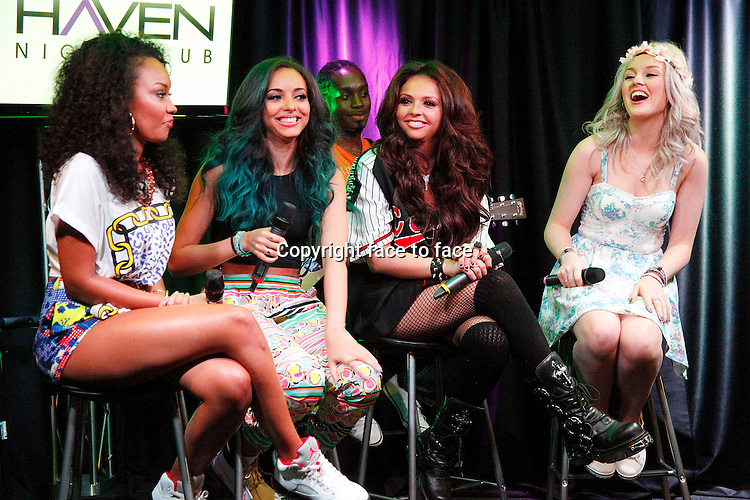 BALA CYNWYD, PA - MAY 30 : Little Mix visit Q 102 Performance Theater in Bala Cynwyd, Pa on May 30, 2013 &copy; Star Shooter / MediaPunch Inc<br />