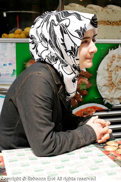 Turkish teenage girl in Istanbul, Turkey