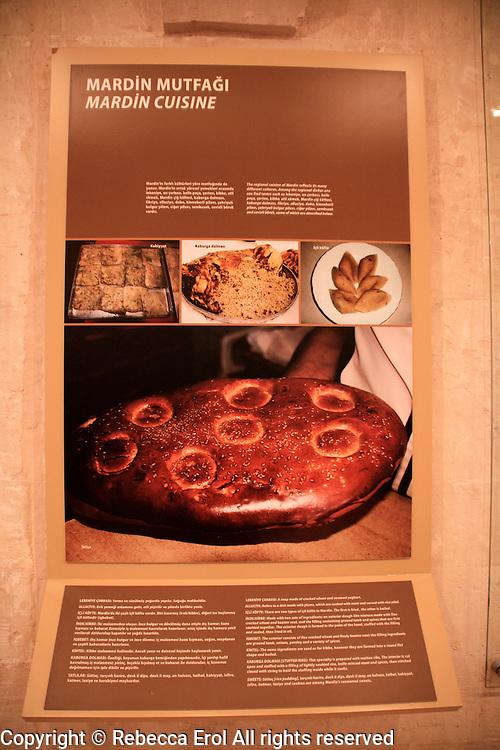 Sakip Sabanci Museum, Mardin, southeastern Turkey: mardin cuisine