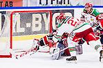 S&ouml;dert&auml;lje 2013-12-12 Ishockey Hockeyallsvenskan S&ouml;dert&auml;lje SK - Mora IK :  <br /> Mora 27 Emil Lundberg &auml;r n&auml;ra att g&ouml;ra m&aring;l i slutskedet av matcen vid st&auml;llningen 2-2<br /> (Foto: Kenta J&ouml;nsson) Nyckelord: