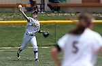 Western Nevada College's Katelyn Bomar makes a play against the College of Southern Nevada on Friday, May 2, 2014, in Carson City, Nev.<br /> Photo by Cathleen Allison/Nevada Photo Source