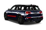 Car pictures of rear three quarter view of a 2019 Mini Clubman John Cooper Works ALL4 5 Door Wagon angular rear