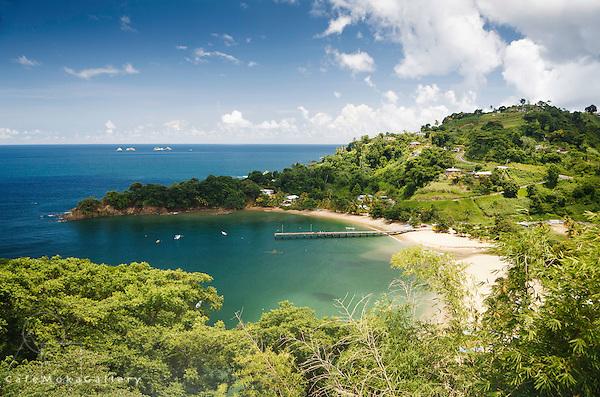 View of the bay at Castara, Tobago