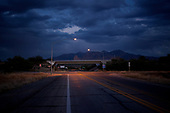 TUCSON, ARIZONA, USA, OCTOBER 2016:<br /> Empty road in the evening near Tucson.<br /> (Photo by Piotr Malecki / Napo Images)<br /> <br /> TUCSON, ARIZONA, USA, 10/2016<br /> Pusta droga wieczorem niedaleko Tucson.<br /> Fot: Piotr Malecki / Napo Images<br /> <br /> <br />  ###ZDJECIE MOZE BYC UZYTE W KONTEKSCIE NIEOBRAZAJACYM OSOB PRZEDSTAWIONYCH NA FOTOGRAFII###