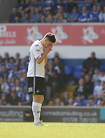 Swansea City's Bersant Celina disappointed at missing the goal<br /> <br /> Photographer Hannah Fountain/CameraSport<br /> <br /> The EFL Sky Bet Championship - Ipswich Town v Swansea City - Monday 22nd April 2019 - Portman Road - Ipswich<br /> <br /> World Copyright © 2019 CameraSport. All rights reserved. 43 Linden Ave. Countesthorpe. Leicester. England. LE8 5PG - Tel: +44 (0) 116 277 4147 - admin@camerasport.com - www.camerasport.com