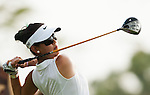 CHON BURI, THAILAND - FEBRUARY 16:  Michelle Wie of USA tees off on the 18th hole during day one of the LPGA Thailand at Siam Country Club on February 16, 2012 in Chon Buri, Thailand.  Photo by Victor Fraile / The Power of Sport Images