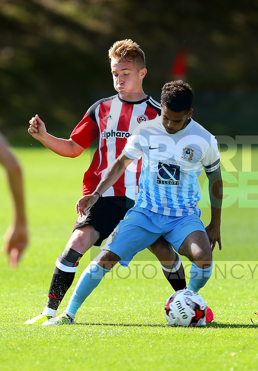 Louis Reed of Sheffield Utd during the Professional Development League Two match at Shirebrook Training Complex, Sheffield. Picture date: September 13th, 2016. Pic Simon Bellis/Sportimage