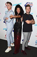 Roman Kemp, Vik Hope &amp; Sonny Jay in the press room for the Capital Summertime Ball 2018 at Wembley Arena, London, UK. <br /> 09 June  2018<br /> Picture: Steve Vas/Featureflash/SilverHub 0208 004 5359 sales@silverhubmedia.com