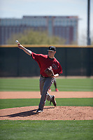 Arizona Diamondbacks relief pitcher Parker Markel (38) delivers a pitch to the plate during a Minor League Spring Training intrasquad game at Salt River Fields at Talking Stick on March 12, 2018 in Scottsdale, Arizona. (Zachary Lucy/Four Seam Images)