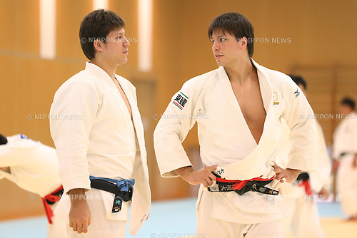 (L to R) Tora Shichinohe, Ryu Shichinohe (JPN), <br /> August 13, 2013 - Judo : <br /> Japan Men's National Team Training Camp <br /> at Ajinomoto National Training Center, Tokyo, Japan. <br /> (Photo by Daiju Kitamura/AFLO SPORT)
