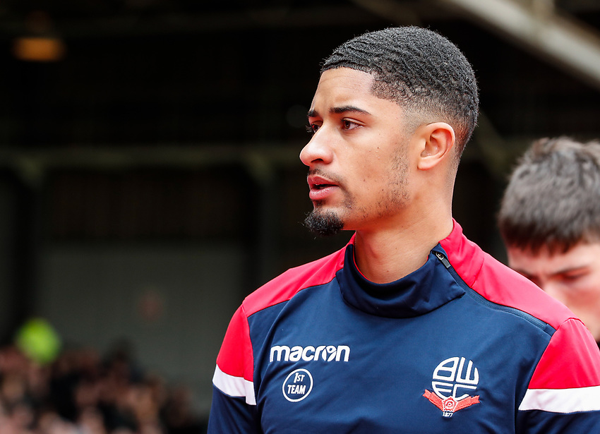 Bolton Wanderers' Chori Johnson<br /> <br /> Photographer Andrew Kearns/CameraSport<br /> <br /> The EFL Sky Bet Championship - Nottingham Forest v Bolton Wanderers - Sunday 5th May 2019 - The City Ground - Nottingham<br /> <br /> World Copyright © 2019 CameraSport. All rights reserved. 43 Linden Ave. Countesthorpe. Leicester. England. LE8 5PG - Tel: +44 (0) 116 277 4147 - admin@camerasport.com - www.camerasport.com