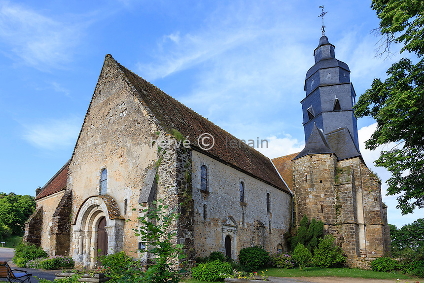 France, Orne (61), Moutiers-au-Perche, église Notre-Dame du Mont-Harou // France, Orne, Moutiers au Perche, church Notre Dame du Mont Harou