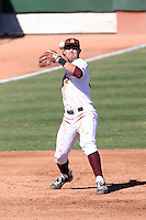 Riccio Torrez #30 of the Arizona State Sun Devils plays in the annual Alumni game on February 12, 2011 at Packard Stadium, Arizona State University, in Tempe, Arizona..Photo by:  Bill Mitchell/Four Seam Images.