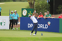 Hideto Tanihara (JPN) on the 13th tee during the 3rd round of the DP World Tour Championship, Jumeirah Golf Estates, Dubai, United Arab Emirates. 17/11/2018<br /> Picture: Golffile | Fran Caffrey<br /> <br /> <br /> All photo usage must carry mandatory copyright credit (© Golffile | Fran Caffrey)