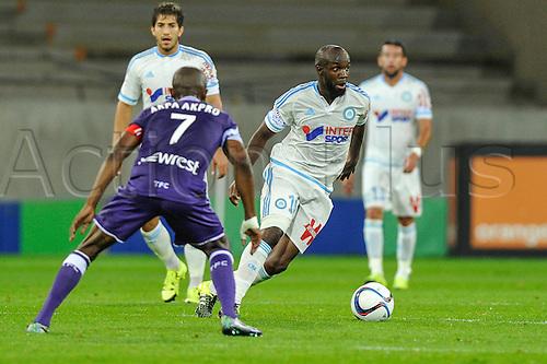 23.09.2015. Toulouse, France. French League 1 football. Toulouse versus Marseille.  Lassana DIARRA (om)