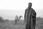 Turkana tribesman, Lokitaung nr the Ilami triangle in the  Northern part of the Kenya bordering Sudan and Ethiopia.