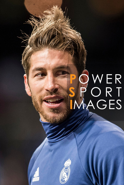 Sergio Ramos of Real Madrid in training prior to the La Liga match between Real Madrid and Real Betis at the Santiago Bernabeu Stadium on 12 March 2017 in Madrid, Spain. Photo by Diego Gonzalez Souto / Power Sport Images