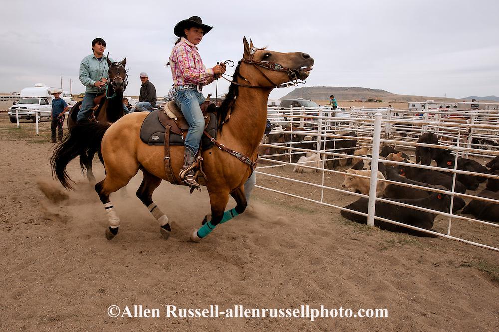 Barrel Racer begins run at Rocky Boy Rodeo on Rocky Boy