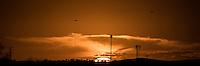 Puesta del sol al atardecer. vista del poniente de la ciudad de Hermosillo, capital de Sonora. <br /> &copy; Foto: LuisGutierrez/NORTEPHOTO.COM