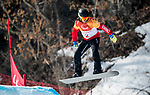 PyeongChang 10/3/2018 - Andrew Genge during a snowboard cross training session at the Jeongseon Alpine Centre during the 2018 Winter Paralympic Games in Pyeongchang, Korea. Photo: Dave Holland/Canadian Paralympic Committee