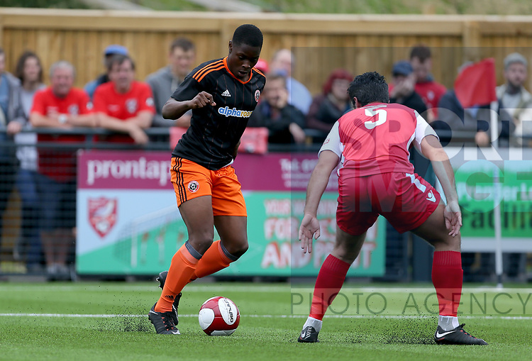 during the pre season match at the Flamingo Land Stadium, Scarborough. Picture date 15th July 2017. Picture credit should read: Richard Sellers/Sportimage