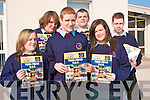 Transition Year students at Causeway Comprehensive Secondary School showcasing their school magazine which they wrote, edited and published as part of a Transition Year Project. .Back L-R Jason Lowe, Oscar Brophy and Sean McElligott. .Middle James Murphy, Patrice Slattery, April O'Rourke and Darragh Connolly.Front L-R Michael Horgan, Rachael Cantillon and Hannah O'Sullivan