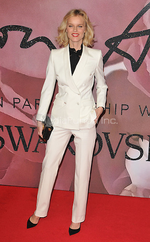 Eva Herzigova at the Fashion Awards 2016, Royal Albert Hall, Kensington Gore, London, England, UK, on Monday 05 December 2016. <br /> CAP/CAN<br /> ©CAN/Capital Pictures /MediaPunch ***NORTH AND SOUTH AMERICAS ONLY***