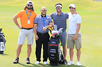 Adrien Saddier (FRA) during previews ahead of the first round of the NBO Open played at Al Mouj Golf, Muscat, Sultanate of Oman. <br /> 14/02/2018.<br /> Picture: Golffile | Phil Inglis<br /> <br /> <br /> All photo usage must carry mandatory copyright credit (&copy; Golffile | Phil Inglis)