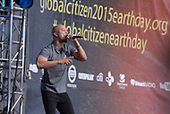 Washington, DC - April 18, 2015: Hip-hop artist Common performs at the annual Earth Day concert on the National Mall in the District of Columbia April 18, 2015. The concert, sponsored by Earth Day Network and The Global Poverty Project, promotes ending extreme poverty and solving climate change.  (Photo by Don Baxter/Media Images International)