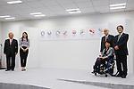 (L-R) Toshiro Muto, Ai Sugiyama, Aki Taguchi, Yoshiro Mori, Ryohei Miyata, <br /> April 8, 2016 : <br /> The Tokyo 2020 Emblems Selection Committee unveiled Shortlisted Emblem designs in Tokyo, Japan. (Photo by Yohei Osada/AFLO SPORT)