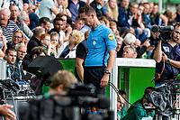GRONINGEN - Voetbal, FC Groningen - FC Twente, Eredivisie, seizoen 2019-2020, 10-08-2019, arbiter Christiaan Bax bekijkt de beelden van de VAR