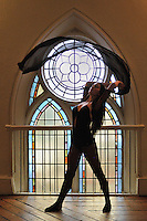 Gregory Holmgren Photography, dance, movement project, model, dancer, Janie Pinard at Berkeley Church, Toronto, ON, December 10, 2012.