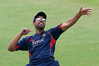 Ravi Bopara of Essex celebrates scoring a goal in the warm up ahead of Essex CCC vs Warwickshire CCC, Specsavers County Championship Division 1 Cricket at The Cloudfm County Ground on 22nd June 2017