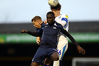 Alex Woodyard of Tranmere Rovers and Elvis Bwomono of Southend United during Southend United vs Tranmere Rovers, Sky Bet EFL League 1 Football at Roots Hall on 11th January 2020