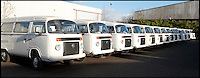 BNPS.co.uk (01202 558833)<br /> Pic: LauraJones/BNPS<br /> <br /> Some of the last ever VW campervans at Danbury MotorCaravans. <br /> <br /> The last ever delivery of brand new Volkswagen campervans has arrived in Britain marking the end of an era for the iconic 'hippy bus'.<br /> <br /> Ninety nine of the final batch of vans rolled off the production line and onto a container ship bound for British shores after manufacture ceased for good in Brazil in December.<br /> <br /> And though the consignment has only just arrived, almost all of the vans have already been snapped up by eager buyers happy to fork out the &pound;35,000 starting price.<br /> <br /> They are the last brand new campers in all of Europe.