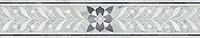 """7 3/4"""" Demeter border, a waterjet mosaic shown in polished Carrara, Allure, and Dolomite by New Ravenna."""