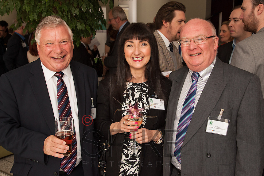 All smiles from left for Len Simmonds, Nottingham Workplace Chaplaincy, Louisa Oukill of The Creative Movement and Ron Glen of Ron Glen Mangement Services