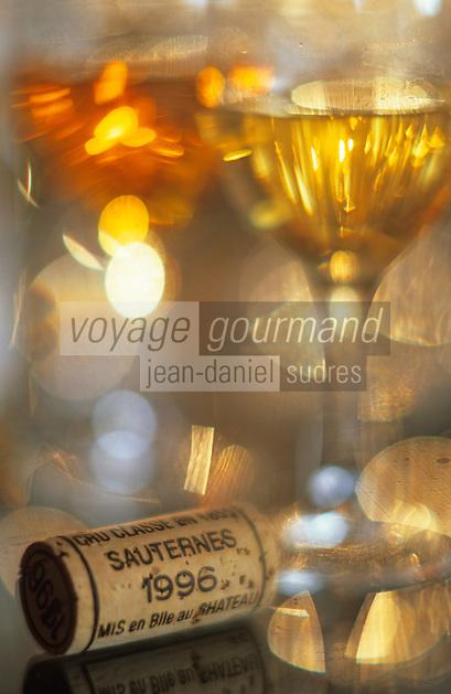 Europe/France/Aquitaine/33/Gironde/Sauternais/Barsac: château de Myrat (AOC Sauternes) - Dégustation de Sauternes 1996